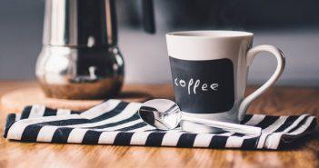 Coffee cup and tea towel
