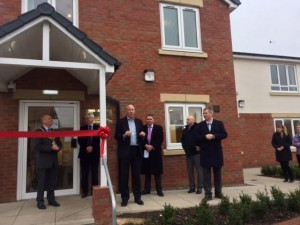 John at the official opening of Harraby Croft specialist supported housing